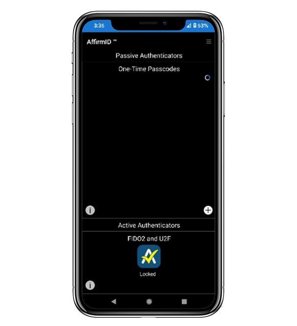 AffirmID Multi Factor Authorization screenshot on phone   ProteqsIT